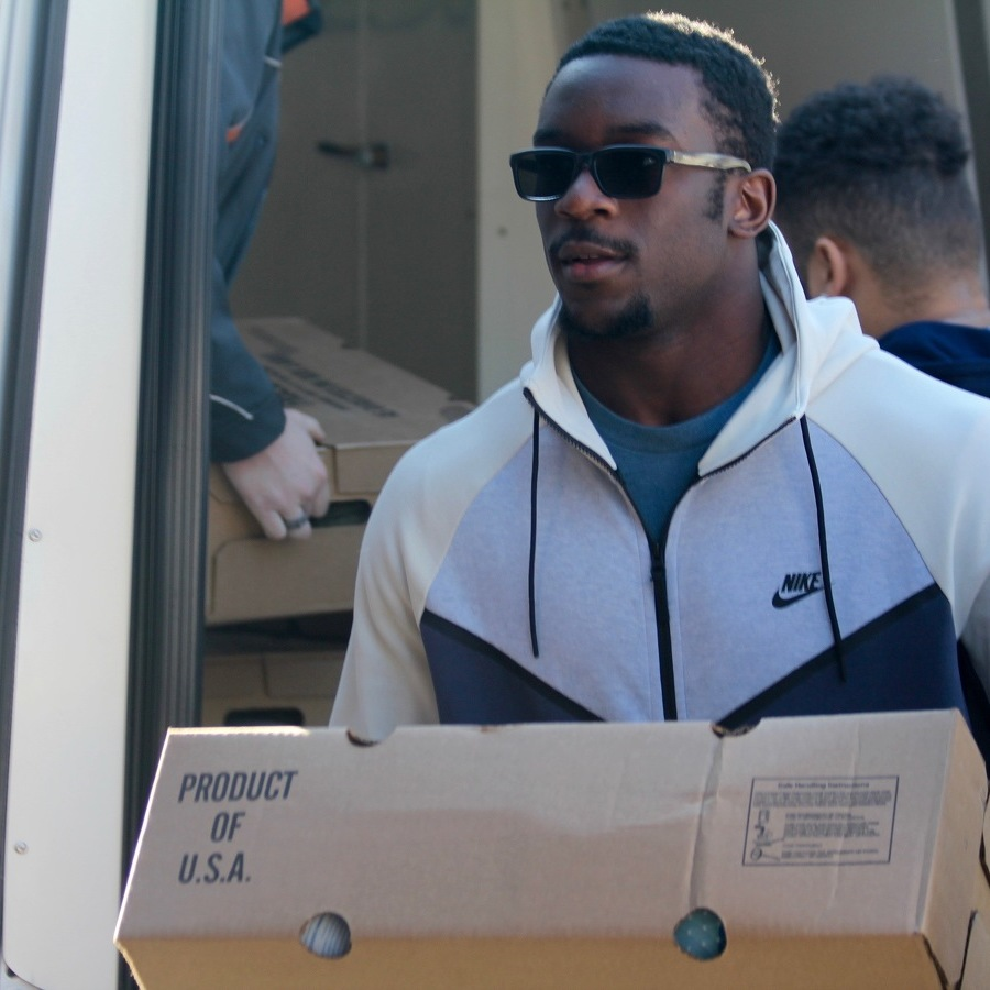Penn State Defensive Linemen Deliver Turkey Donations to State College Food Bank