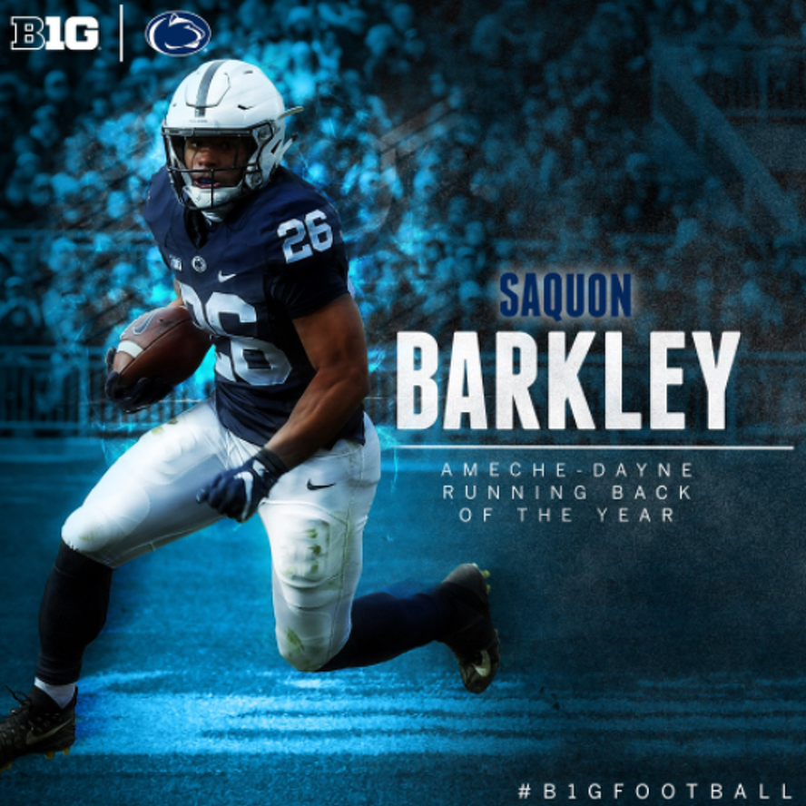 Penn State Football: Barkley Takes Home Three Major Big Ten Honors