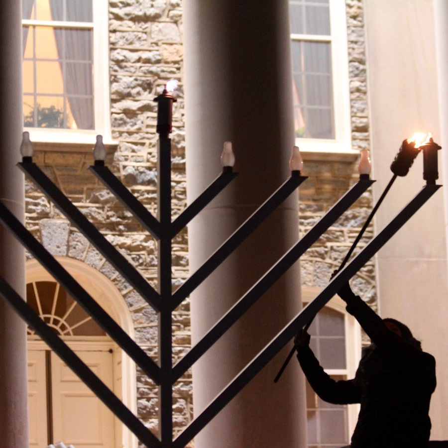 Community Members Celebrate First Night of Hanukkah with Menorah Lighting