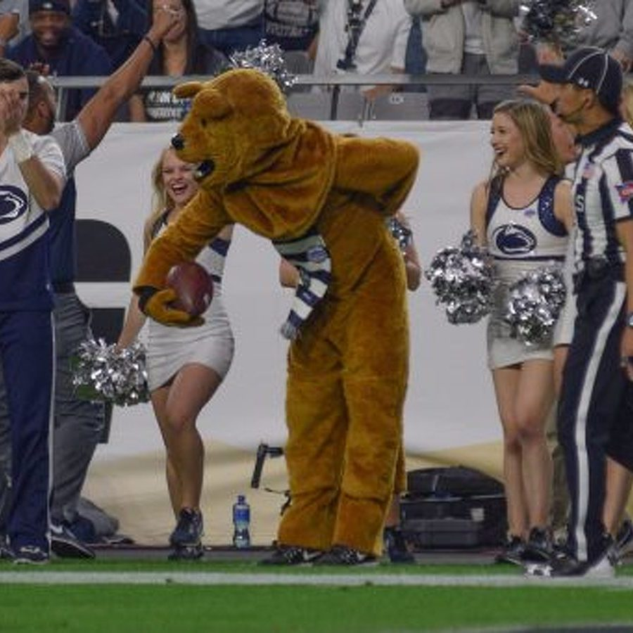 The Nittany Lion Makes a Great Catch in the Fiesta Bowl
