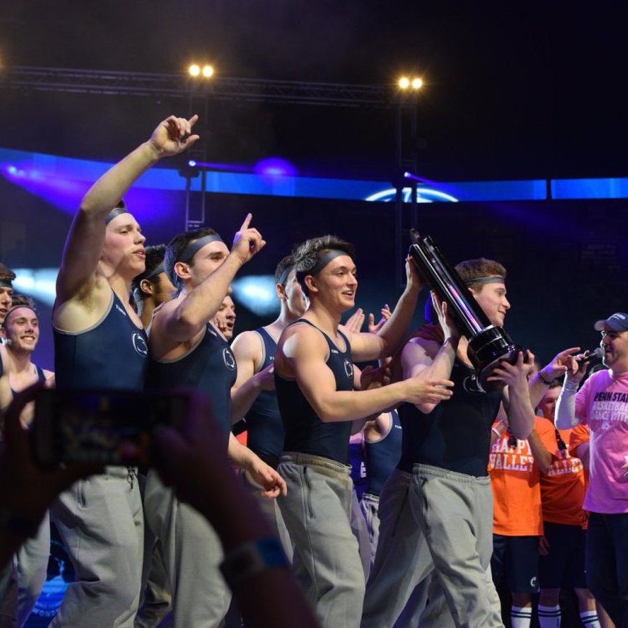 Athletes Entertain as Men's Gymnastics Wins THON Pep Rally