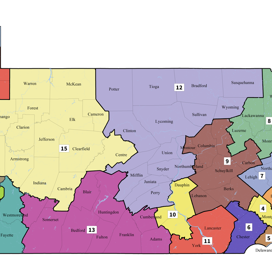 New Pennsylvania Congressional Map Splits Centre County