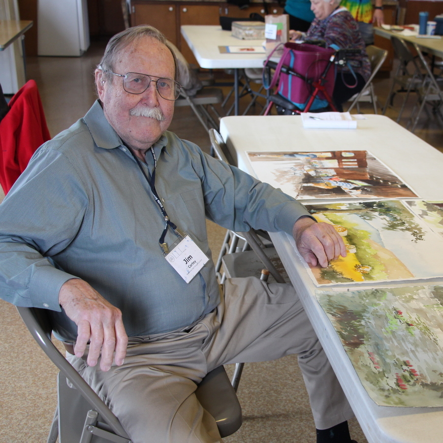 At 90, Cartey inspires OLLI students with his art and humor