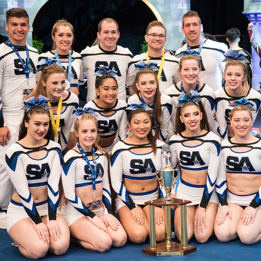 Local cheer squad makes history