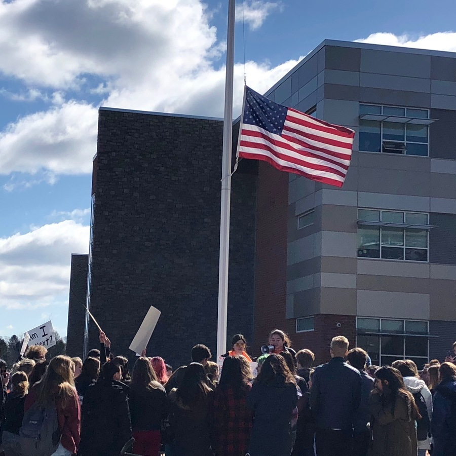 State High Students Walk Out for Gun Violence Protest