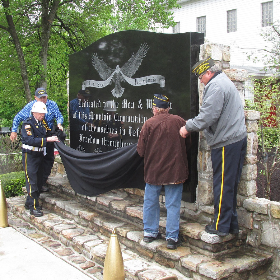 Snow Shoe Rededicates Veterans Memorial