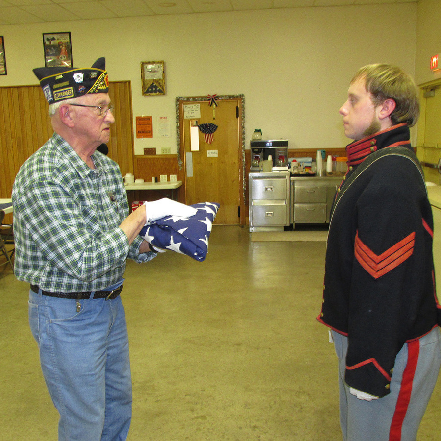 World War I Veteran Remembered with Flag Presentation