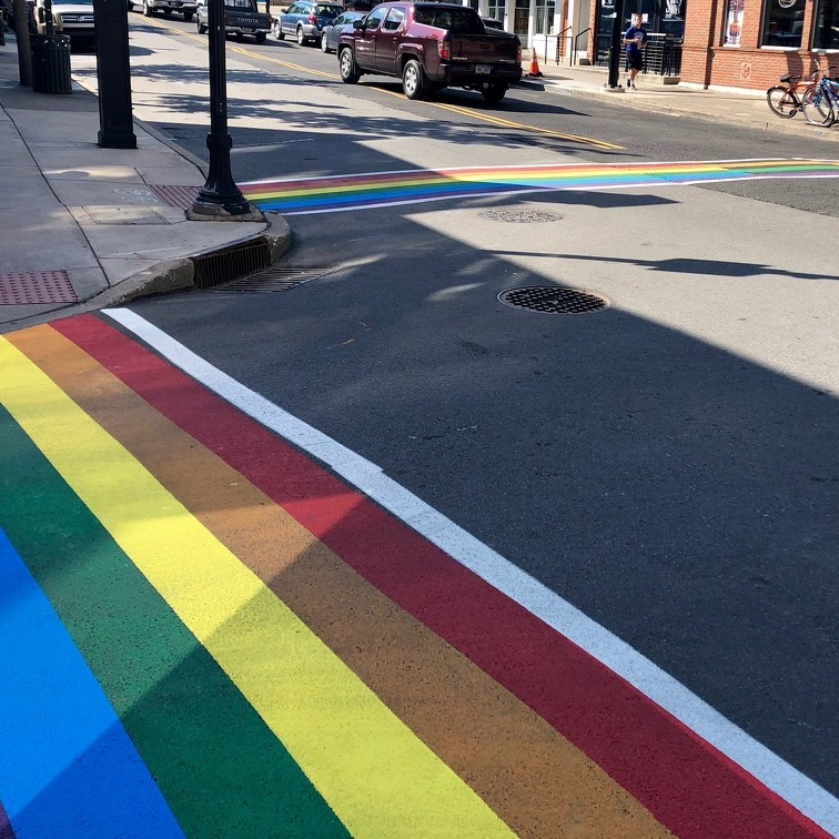 Rainbow Crosswalks in Downtown State College Celebrate Pride Month