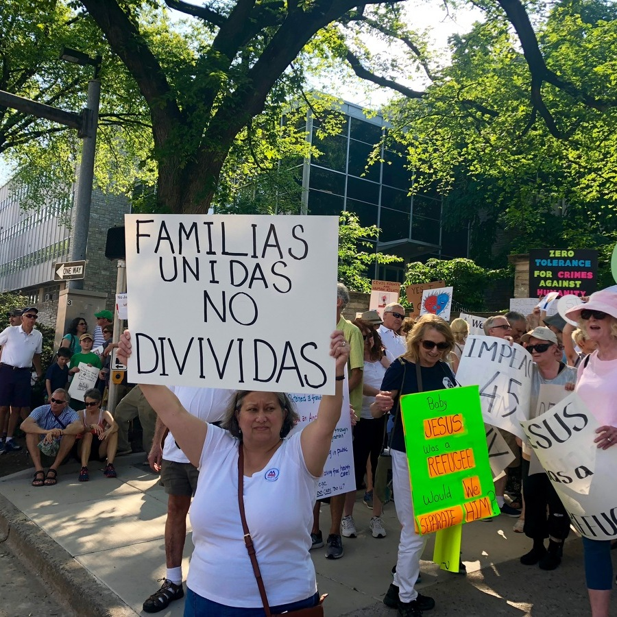 Protestors Rally Against Trump Immigration Policies