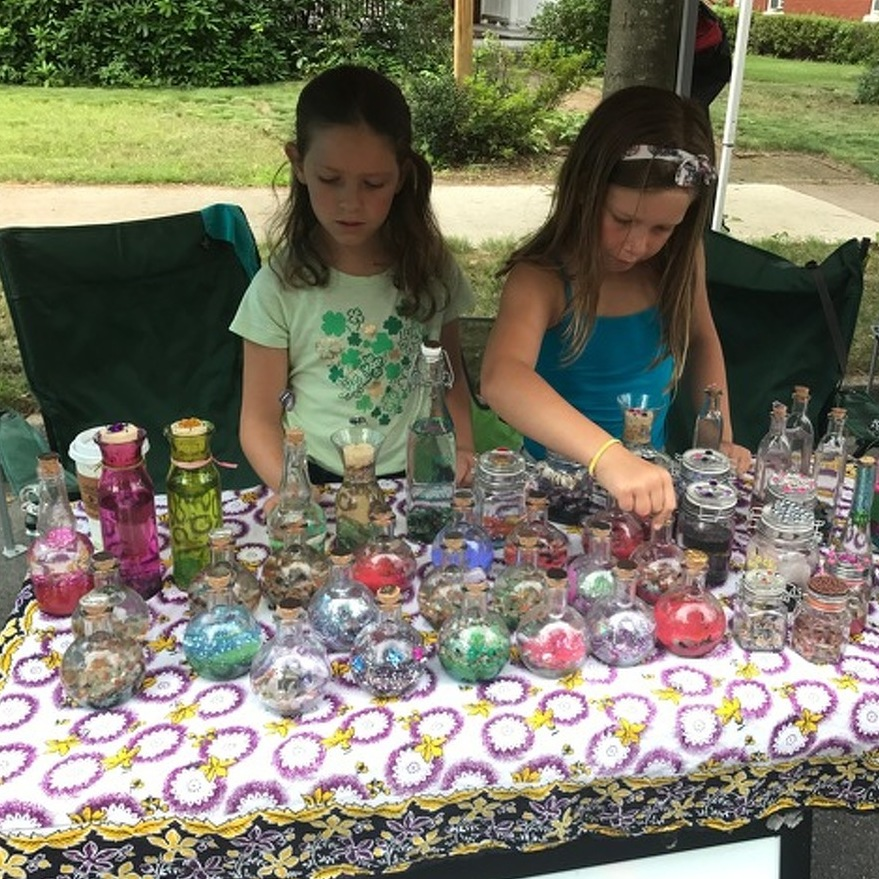 Kids Use Central PA Arts Fest Sidewalk Sale to Share Creations