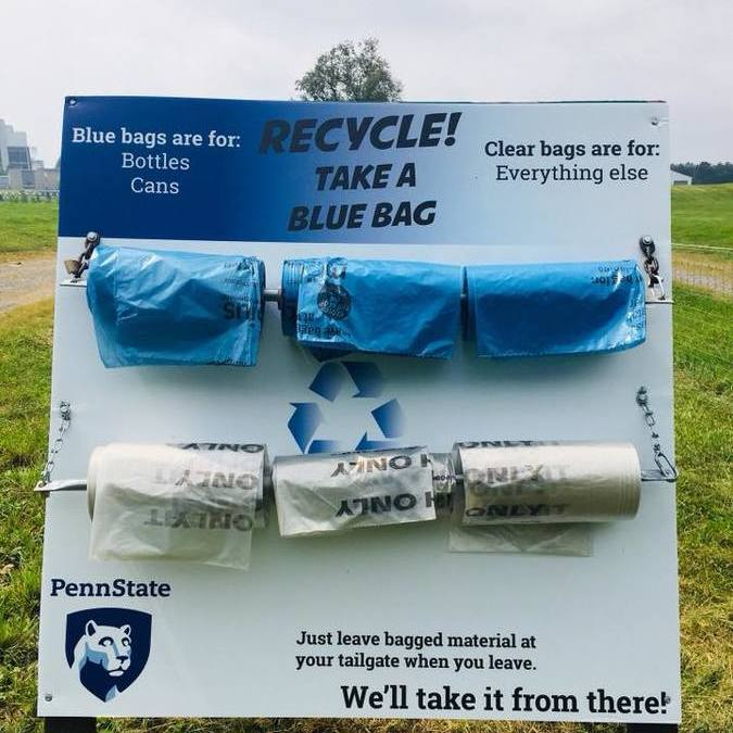 CCRRA and Penn State Aim to Make Tailgate Recycling and Clean-Up Easy