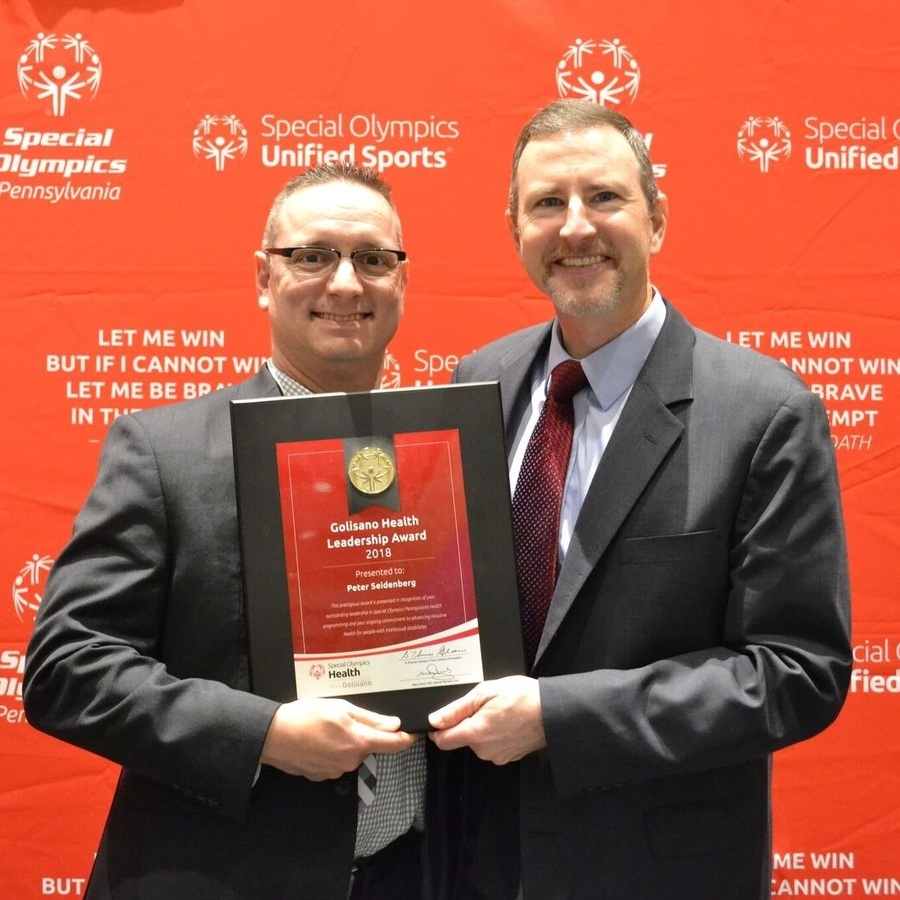 Dr. Peter Seidenberg recognized as Special Olympics health champion
