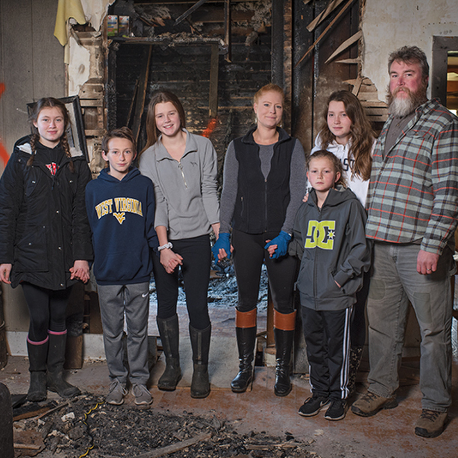 Beauty From The Ashes: Even after losing nearly everything in a house fire, the Markle family counts their blessings