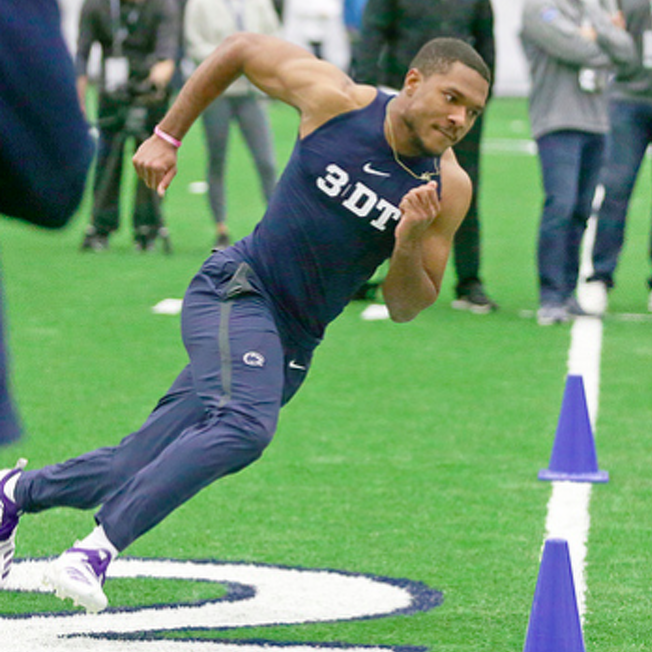 Penn State Football: Thompkins Posts Fast 40 While Barkley Sleeps on the Couch