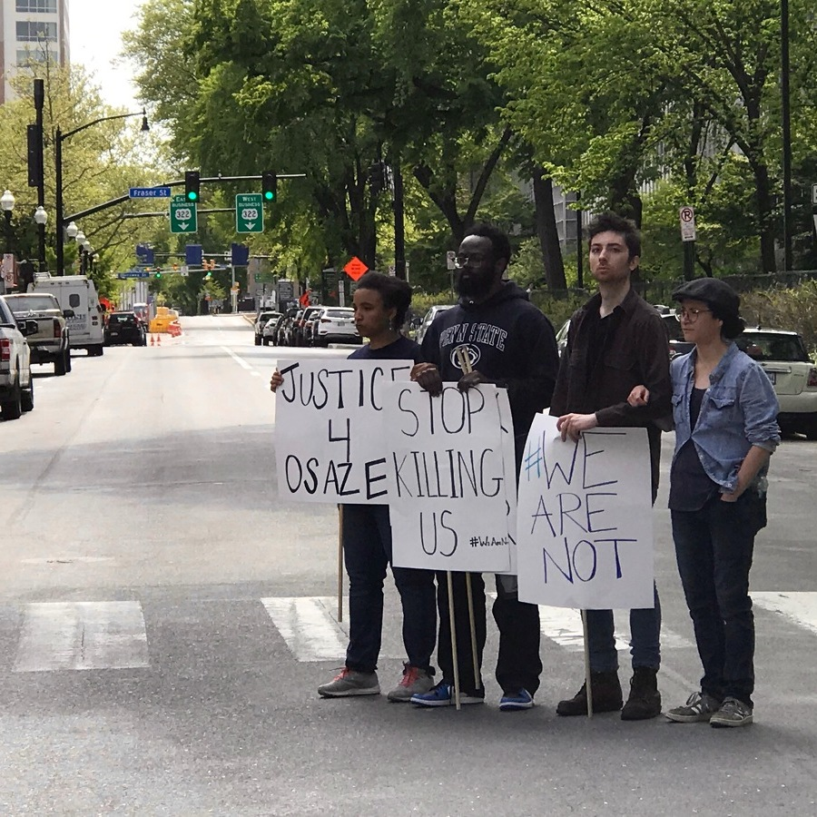 Protestors Block College Avenue After DA Announces No Charges in Osagie Shooting