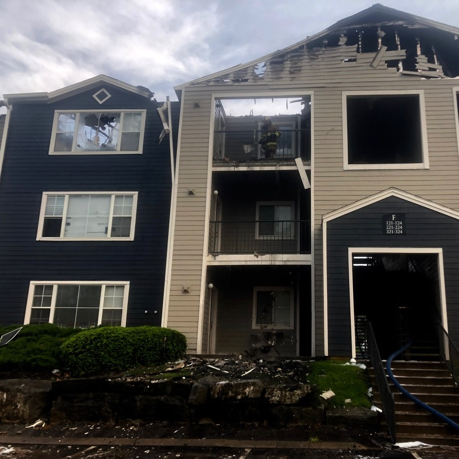 Fire Damages Patton Township Apartment Building