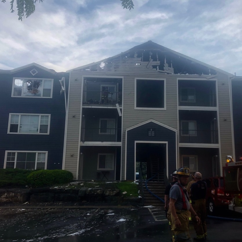 Lightning Strike Caused Fire at Student Apartment Complex