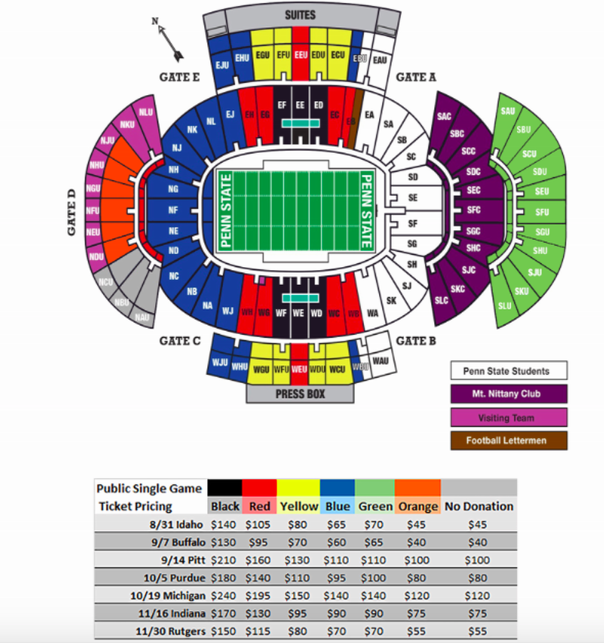 State College, PA - Penn State Football: Michigan Ticket ...