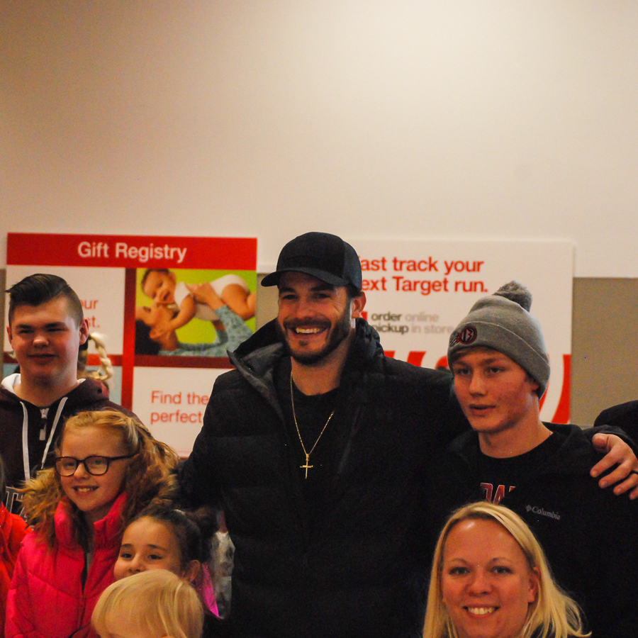 NFL Linebacker Nate Stupar and Wife, Marissa, Treat Local Kids to Holiday Shopping Spree