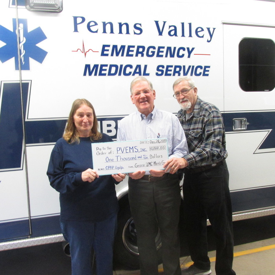 Group donates money to Penns Valley EMS Service