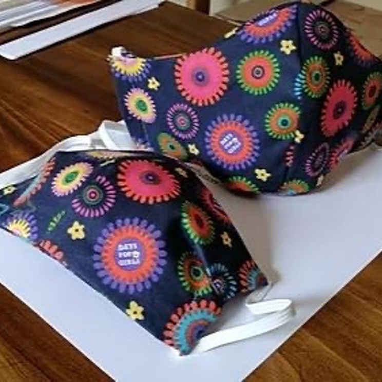 Days for Girls Club Sewing Masks for Healthcare Workers