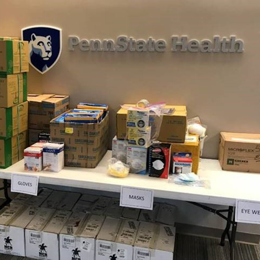 Penn State Health Opens State College Drop-Off Site for Supply Donations