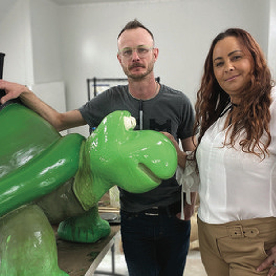 At 3D Sculpture Worx, Entrepreneur Gracienne Myers and Artist William Snyder III Form an Innovative Partnership