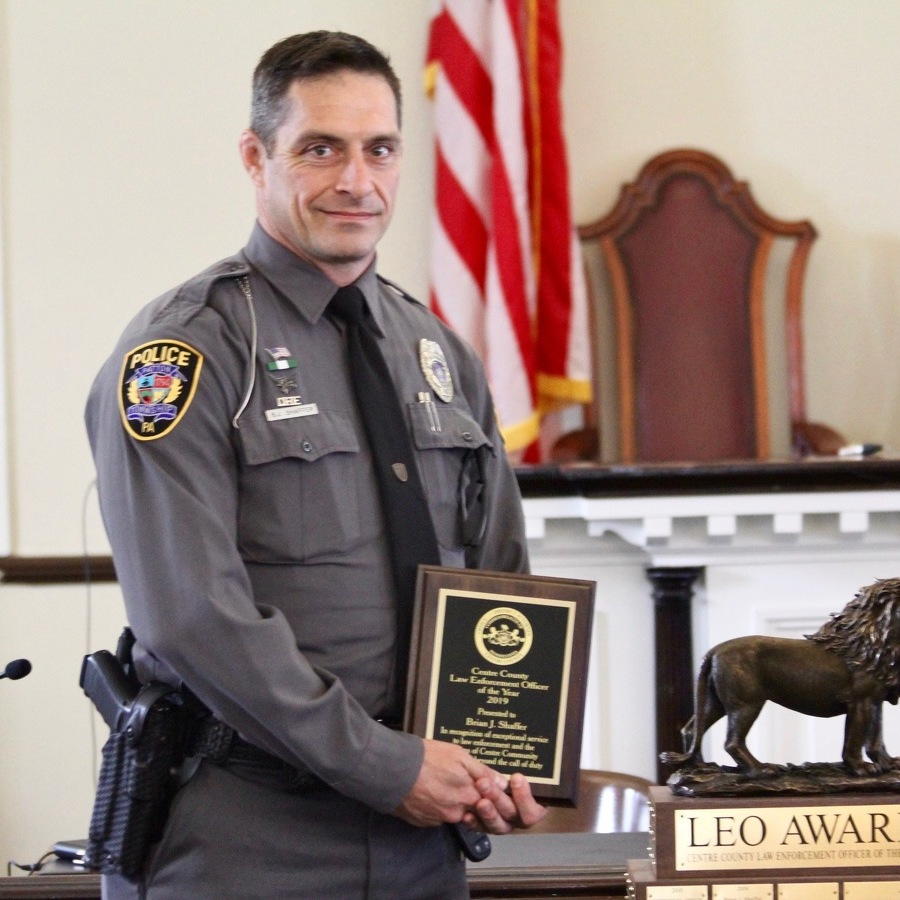 State College Detective, Patton Township Officer Recognized as Centre County Law Enforcement Officers of the Year