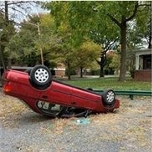 State College Police Looking for Suspects Who Flipped a Car