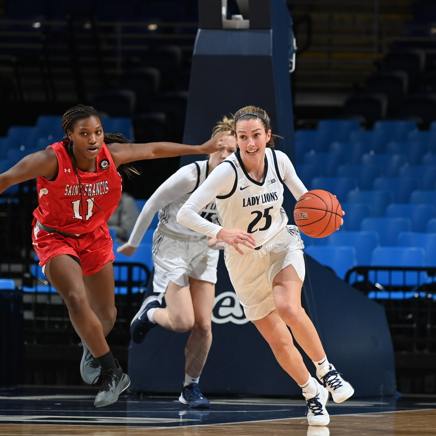 Lady Lions Cruise Past St. Francis in 87-54 Victory