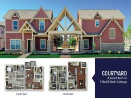 Courtyard 4 Bedroom/4 Bathroom or 5 Bedroom/5 Bathroom