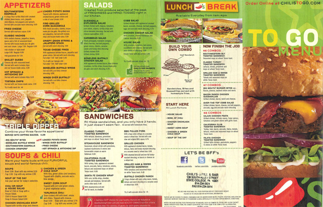 Breakfast Menu At N Chili Family Restaurant