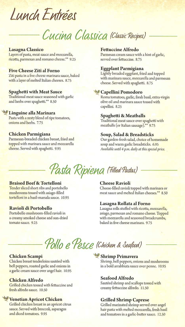 Menu For Olive Garden: State College, PA 16803