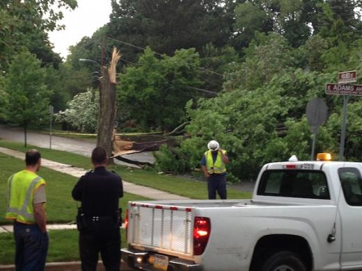Powerful Thunderstorms Blow Down Trees, Knock Down Power Lines: Hundreds Left in the Dark Wednesday Evening
