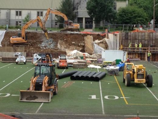 Memorial Field Wall Collapse Closes Fraser Street