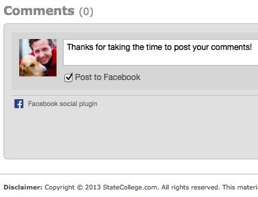 StateCollege.com Switches to Facebook Comments