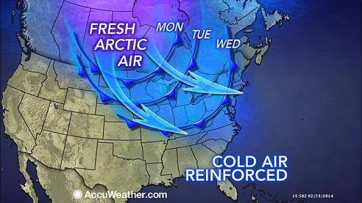 Frigid Weather to Stay for the Week, but Major Snow not Expected