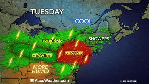 Forecasters Warn of Severe Thunderstorms and Hail for State College