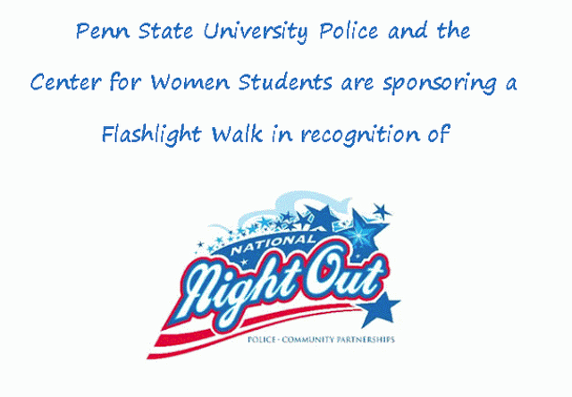 Penn State 'Flashlight Walk' to Promote Safety, Community Engagement