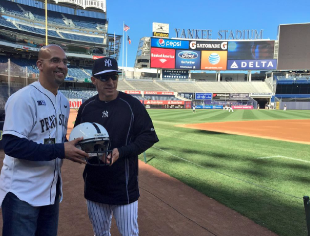 Penn State Football: James Franklin Tosses Strike To Kick Off Yankees' Game