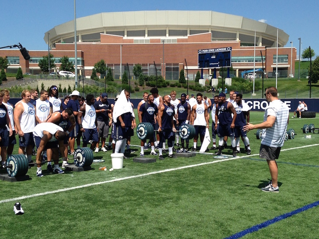 Penn State Football: Nittany Lions Beat The Heat And The Weights At Annual Lift For Life