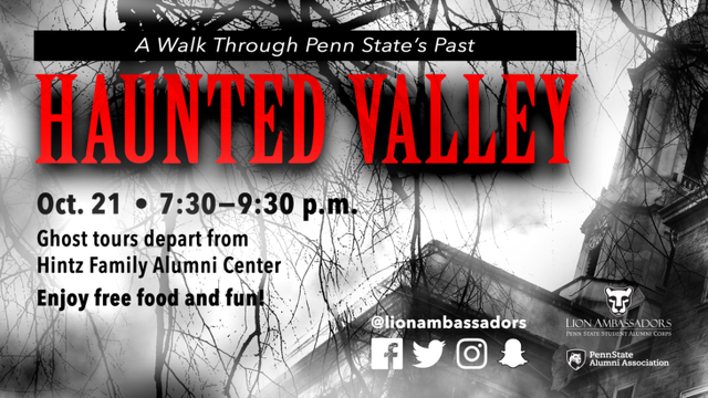 Lion Ambassadors to Lead 'Haunted Valley' Ghost Tours on Campus