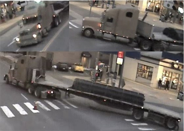 Police Looking for Tractor Trailer That Took Out Light Pole