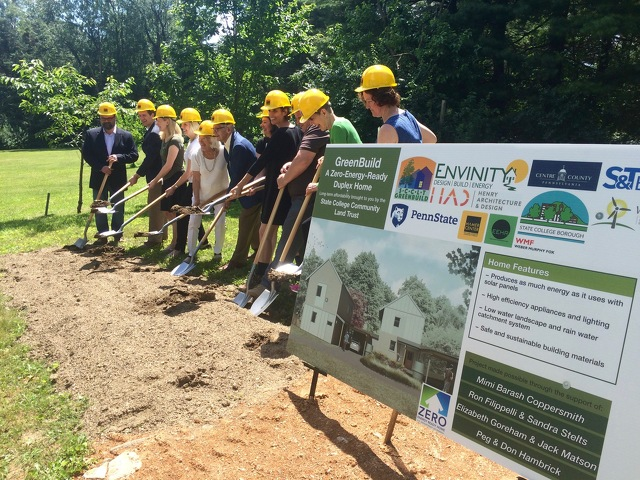 State College Community Land Trust Breaks Ground on Energy-Efficient, Affordable Duplex