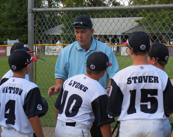0d631a5aa4 An umpire discusses rules and equipment with Penns Valley players before  game. Photo by Bill Horlacher. State College ...