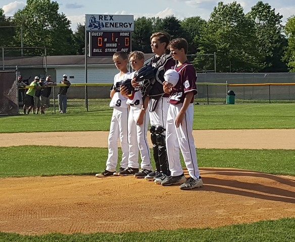 0f7332d4d0 State College and Penns Valley players recite the Little League Pledge.  Photo by Bill Horlacher.