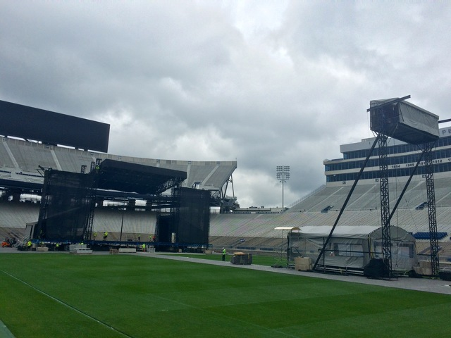 Crews Getting Beaver Stadium Ready for Happy Valley Jam