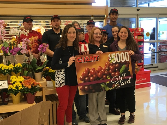 State College, PA - Giant Food Stores Donation to Help