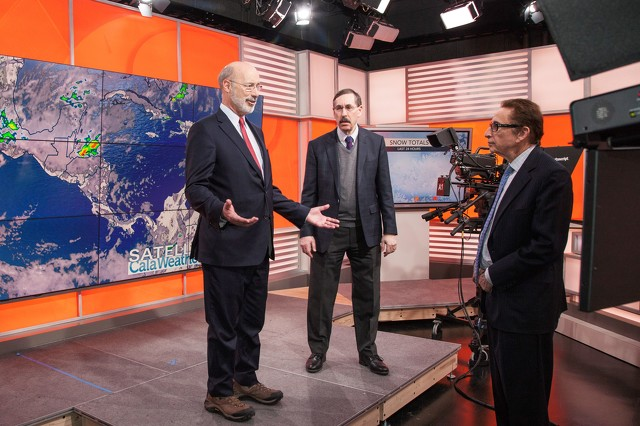 Gov. Wolf Tours AccuWeather During State College Visit