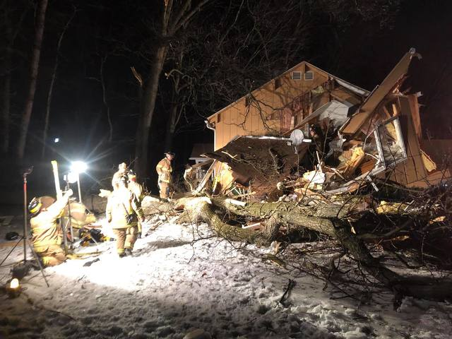 Woman Rescued After Tree Falls on Ferguson Township Home